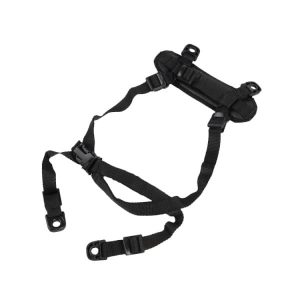 Black H-HARNESS 4-POINT CHINSTRAP