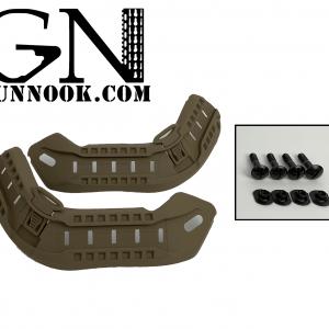 GunNook HELMET RAIL SYSTEM TYPE II  Coyote Brown