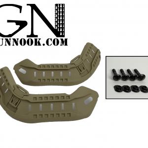 GunNook HELMET RAIL SYSTEM TYPE II Desert Tan