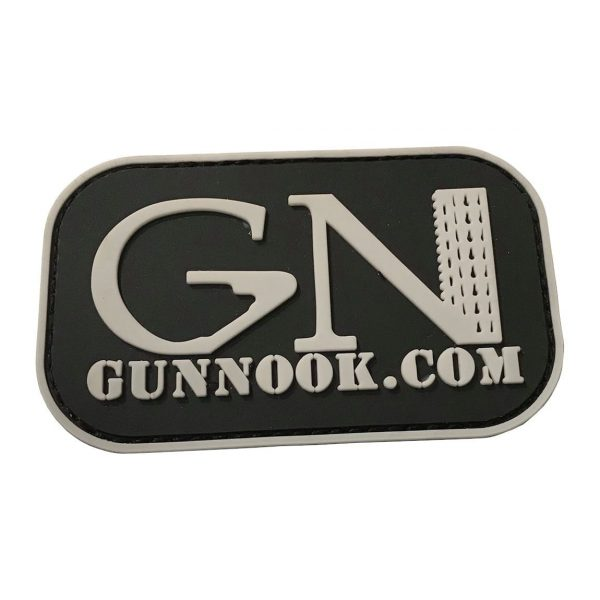 GunNook Official White Logo PVC Morale Patch