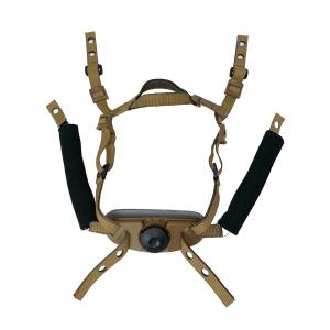 GUNNOOK Dial Retention III 4 Point Ballistic Helmet Retention System Coyote Brown