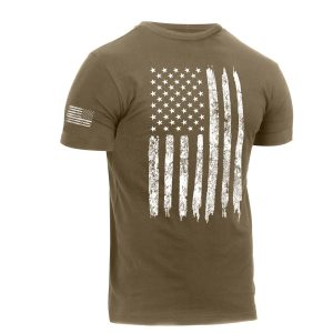 Distressed US Flag Athletic Fit T-Shirt CB