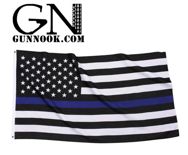 GunNook Thin Blue Line American Flag