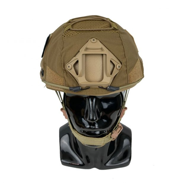 GN-ATHC - GunNook Advanced Tactical Helmet Cover - Coyote Brown