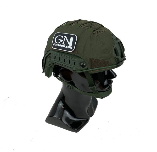 GN-ATHC - GunNook Advanced Tactical Helmet Cover - Olive Drab