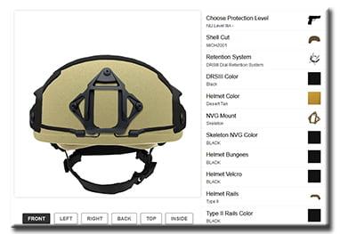 GunNook Helmet Builder
